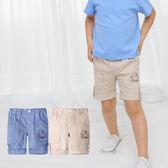 休閒反摺褲 男童 短褲 休閒褲 褲子 5分褲 褲裝 Augelute 60070