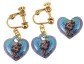 【卡漫城】 冰雪奇緣 戒指&耳環 二件組 艾莎 藍 ㊣版 Frozen Elsa 女孩 耳飾 耳夾 兒童 飾品