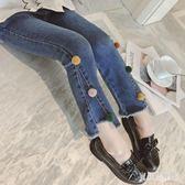 女童牛仔褲 2019秋季新款時尚氣質潮流微喇叭褲洋氣長褲女 YN1171『寶貝兒童裝』