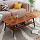 茶几 現代簡約現代小戶型北歐客廳家用創意雙層臥室沙發邊幾簡易小 【全館免運】