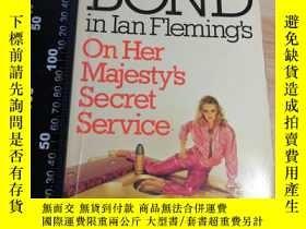 二手書博民逛書店007系列罕見邦德 JAMES BOND ON HER MAJESTY S SECRET SERVICE 《007