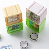 ✭米菈生活館✭【N131】迷你疊加收納盒 膠帶 整理 桌面 辦公 文具 黏貼 透明 防塵 可視 分類