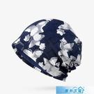 頭巾帽 帽子女夏季包頭帽透氣薄款蕾絲頭巾帽光頭化療堆堆帽孕婦帽月子帽 漫步雲端