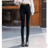 打底褲女加絨加厚小腳緊身高腰顯瘦褲子外穿秋冬【少女顏究院】