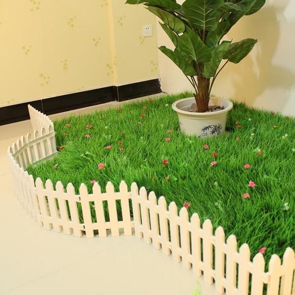塑料柵欄圍欄花壇柵欄田園小籬笆庭院室內白色幼兒園圣誕裝飾圍欄 星際小鋪