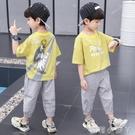 童裝男童夏裝套裝2021新款夏季男孩洋氣兩件套夏天帥氣兒童短袖潮 蘿莉新品