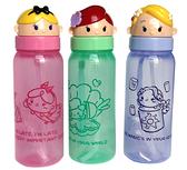 【卡漫城】 公主 公仔 吸管 水壺 三選一 ㊣版 翻蓋 塑膠水瓶 幼兒 小美人魚 愛麗絲 樂佩 長髮 Alice