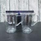 仙德曼雙層玻璃錘紋茶杯組 /2入 雙層玻璃杯 錘紋玻璃杯 耐熱玻璃杯 玻璃杯 馬克杯