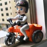 兒童男女寶寶益智玩具卡通特技騎三輪車電動音樂旋轉燈光萬向翻斗 夢幻衣都