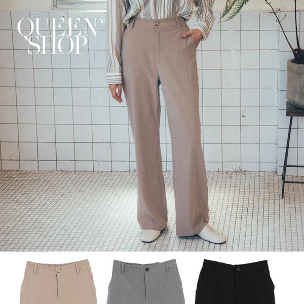 Queen Shop【04030244】素色落地鬆緊西裝褲 三色售 S/M/L/XL*現+預*