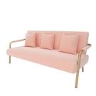 沙發客廳小戶型布藝出租房沙發北歐簡約單雙人日式簡易服裝店沙發【618店長推薦】