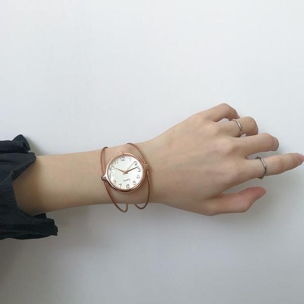 流行女錶 手鐲式手錶女裝飾錶手時尚潮流ins風森系少女休閑大氣學生韓版 店慶降價