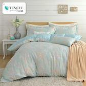 天絲被套床罩組/300織/雙人五件式兩用被床罩組/波美尼亞[鴻宇]M2575