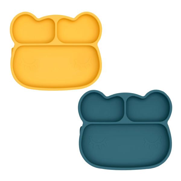 澳洲We Might Be Tiny 矽膠分隔餐盤 吸盤-熊寶寶(2色可選)
