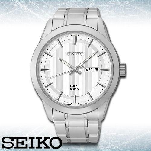 SEIKO 精工手錶專賣店 SNE359P1 男錶 太陽能錶 不鏽鋼錶帶 不鏽鋼錶殼 強化玻璃鏡面 防水100米