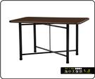{{ 海中天休閒傢俱廣場 }} C-99 摩登時尚 餐桌系列 463-01 2X3尺鋼板餐桌/烤黑低腳