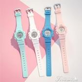兒童手錶-手錶女兒童抖音同款小學生女生韓版簡約潮流電子錶 提拉米蘇
