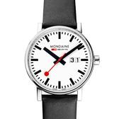 MONDAINE 瑞士國鐵evo2時光走廊腕錶-40mm/白 40210LB
