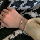 手鏈 S925純銀圓圈手鏈女款ins小眾設計韓版個性冷淡風高級感圓珠手飾【快速出貨八折下殺】