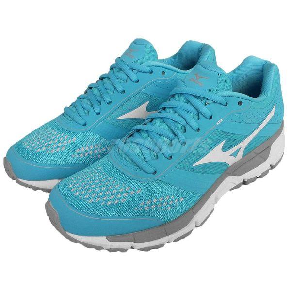 美津濃 Mizuno Synchro MX W 慢跑 馬拉松 基本款 藍灰 女鞋【PUMP306】 J1GF161901