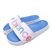 New Balance 拖鞋 NB SWF200A1 B 白 彩色 基本款 夏日百搭款 女鞋 男鞋【ACS】 SWF200A1B