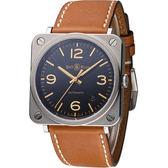 Bell & Ross 經典時尚飛行械機腕錶 BRS92-G-HE-ST/SWA