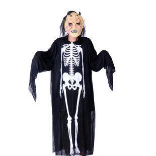 帶發黑布鬼面具+骨架鬼衣服