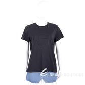 KARL LAGERFELD Kameo 卡爾 老佛爺 水鑽輪廓黑色TEE T恤 2020197-01