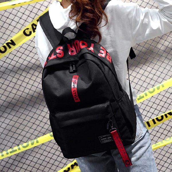 後背包2018冬季新款尼龍布雙肩包防盜後口袋書包大容量耐用背包