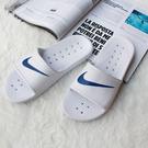 【現貨】CLASSICK- NIKE Kawa Shower Slide 防水拖鞋 黑底白勾 白底藍勾 雨天必備 不發臭 不潮濕 832528-100