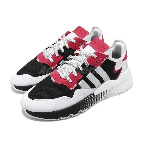 adidas 休閒鞋 Nite Jogger 黑 白 男鞋 女鞋 Boost 中底 運動鞋 反光 【ACS】 EF5402