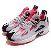 Reebok 復古慢跑鞋 DMX Series 1200 LT 灰 粉紅 老爹鞋 運動鞋 女鞋【PUMP306】 DV9228