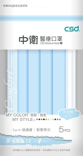 (每人限購2組) 中衛醫療口罩 天空藍 5片*6包+立得清 LET-GREEN 酒精擦濕巾50抽3包 *維康