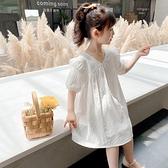 女童洋裝 女童裝洋氣夏裝兒童2-9歲3寶寶4小童5仙女6公主連身裙子白色正韓8-Ballet朵朵