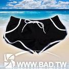 壞男Body Fit《型男休閒設計款四角泳褲》(黑色)【M / L / XL】(內褲、健身褲、休閒褲、海灘褲)