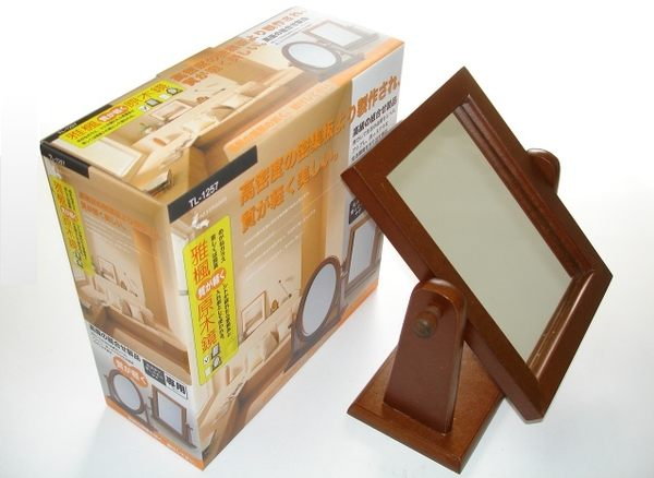 【好市吉居家生活】上龍 雅楓原木鏡-方型立鏡  鏡子 木鏡 化妝鏡 TL-1257