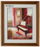 鋼琴樂器/油畫-ma12(羅丹畫廊)含框45x55公分(100%手繪)