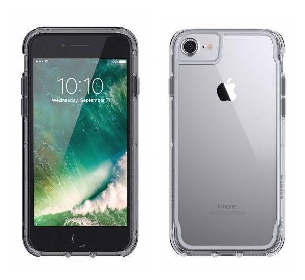 【漢博】Griffin Survivor Clear iPhone 7 Plus軍規防摔殼 - 太空灰邊框