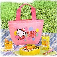 【波克貓哈日網】凱蒂貓hello kitty保冷手提袋◇粉紅彩球圖案◇《小型》