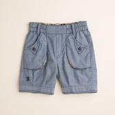 【金安德森】色紗牛津配格五分褲-水藍色