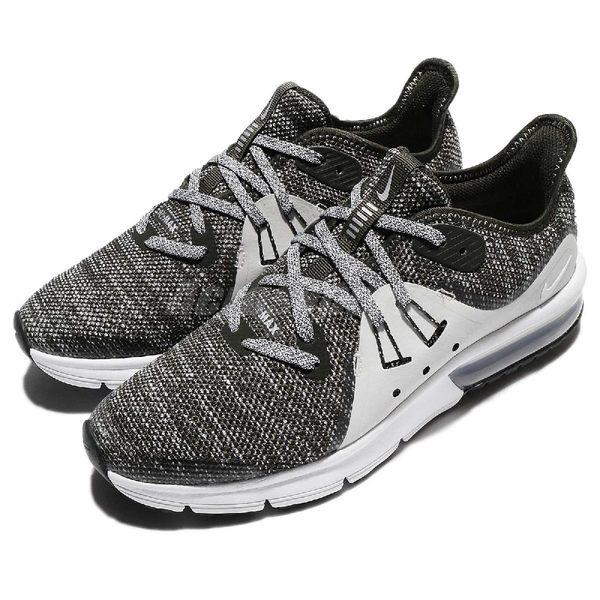 【六折特賣】Nike 慢跑鞋 Air Max Sequent 3 GS 灰 綠 氣墊 輕量透氣 氣墊 女鞋 大童鞋【PUMP306】 922884-300