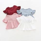 荷葉襯衫 娃娃衫 短袖上衣 橘魔法 Baby magic 現貨 小童 童裝 女童 短袖 上衣