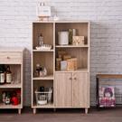 碗盤櫃 廚房櫃 收納【收納屋】田藤雙門五格櫃&DIY組合傢俱