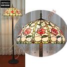 INPHIC-訂製簡約手工玻璃小紅花落地燈美式鄉村燈飾英倫餐廳別墅酒吧KTV燈具_S2626C
