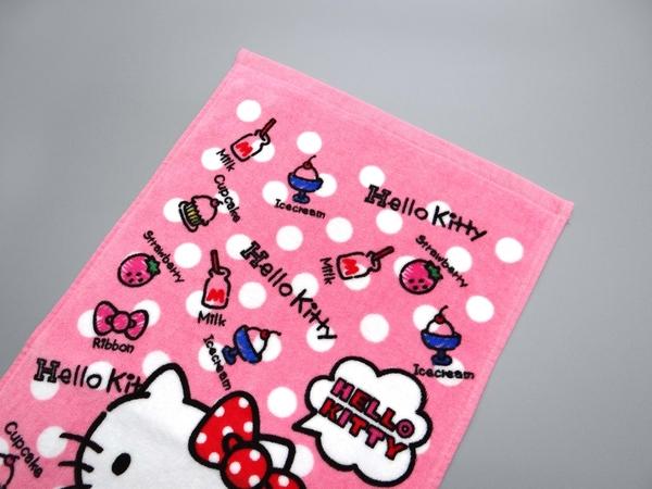 【Sanrio三麗鷗】凱蒂貓甜點童巾 100%棉 28x54cm