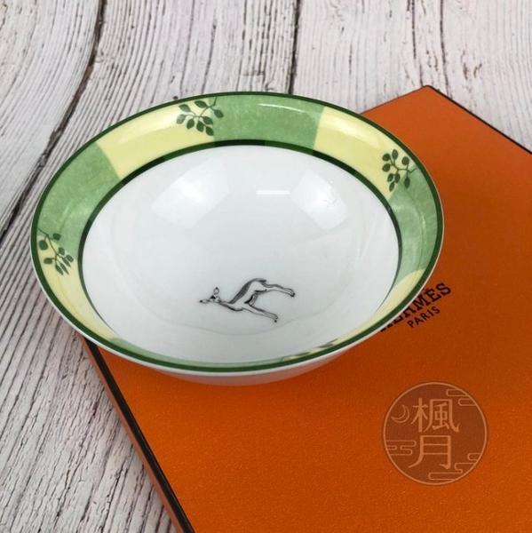 BRAND楓月 HERMES 愛馬仕 AFRICA GREEN系列 叢林 動物 綠色 陶瓷 瓷碗