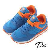 【韓國T2R】時尚撞色運動風氣墊增高鞋 ↑7cm 藍(5600-0155)