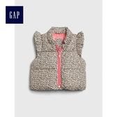 Gap女嬰兒 甜美豹紋荷葉邊飾背心 473971-棕黑斑紋