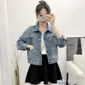 牛仔外套女春秋短款韓版bf夾克學生寬鬆休閒小外套新款牛仔衣(快速出貨)