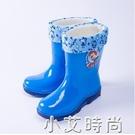 兒童雨鞋男童女童中筒防滑加絨保暖卡通水鞋小孩學生寶寶雨靴膠鞋 小艾新品